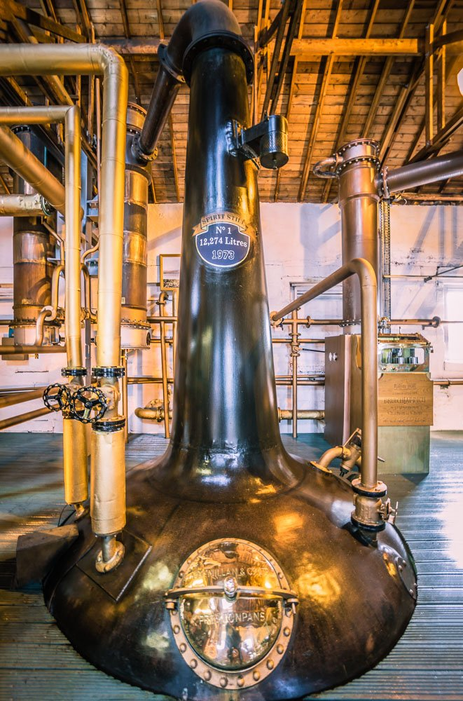 Bruichladdich distillery spirit still number 1