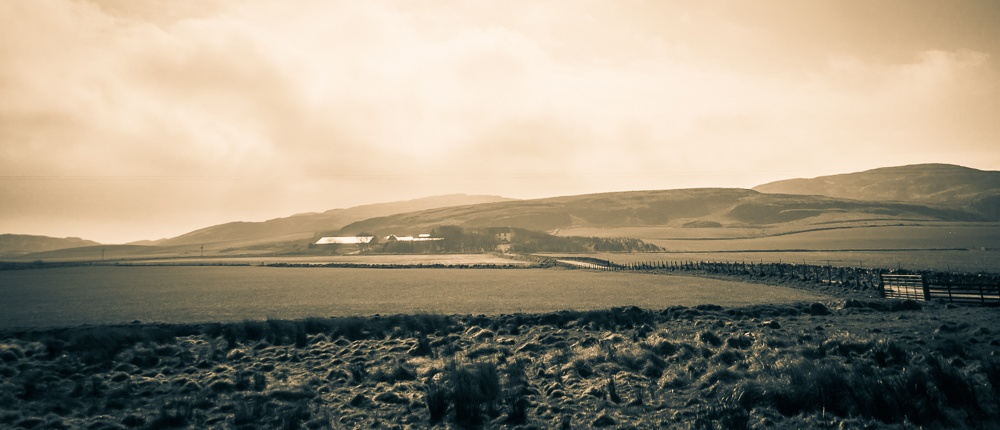 Kilchoman Distillery and farm, viewed from the road entrance