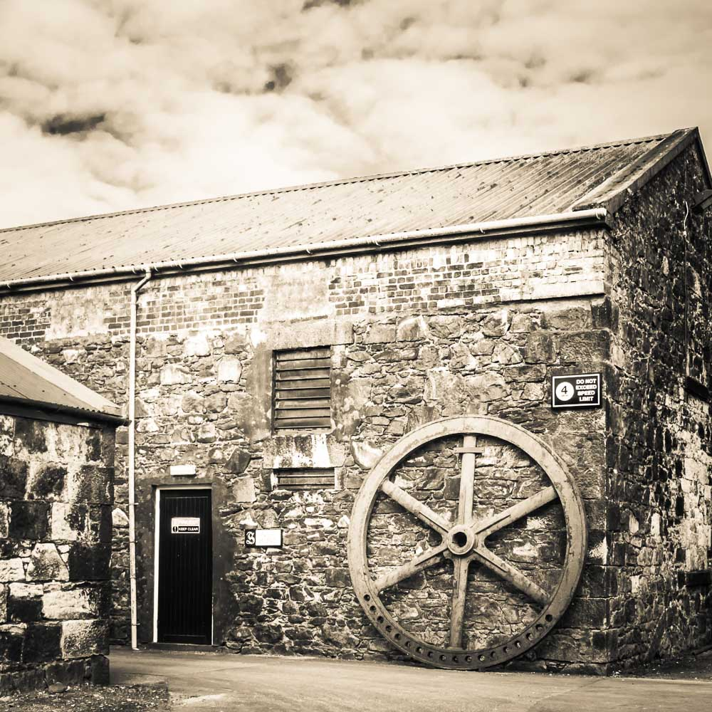 Old Water Wheel at Springbank Distillery