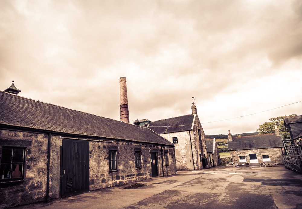 Clynelish Brora distillery filling station and still house