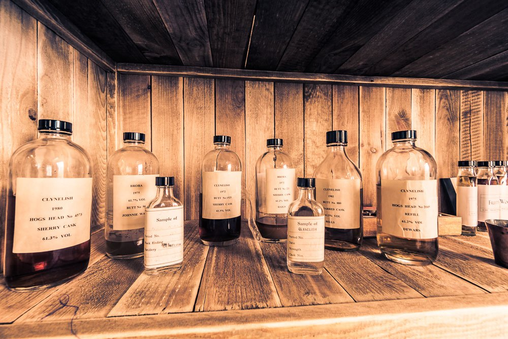 Old and rare clynelish and brora whisky samples