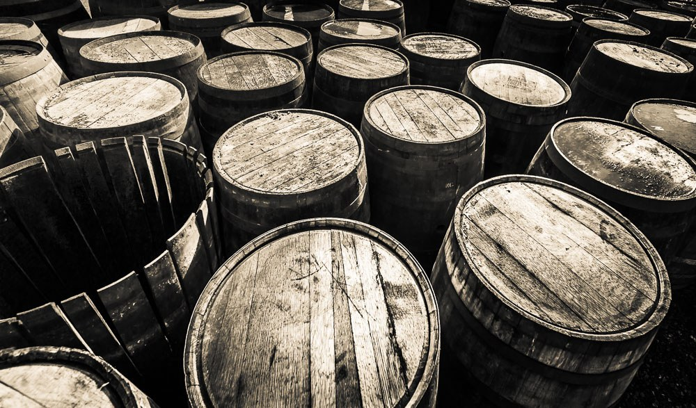 Empty The Dalmore Distillery Casks
