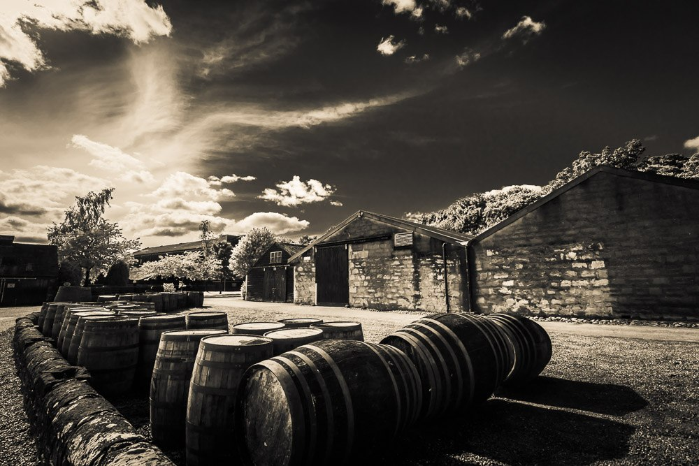 The Dalmore Distillery warehouses and casks