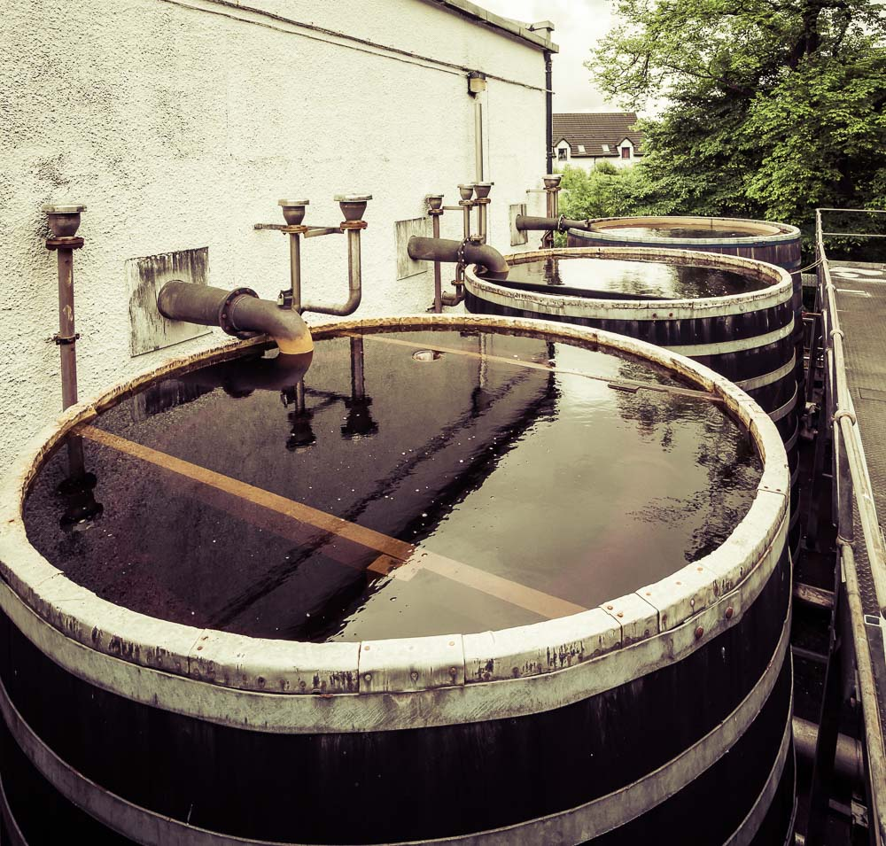 Talisker distillery spirit still worm tubs