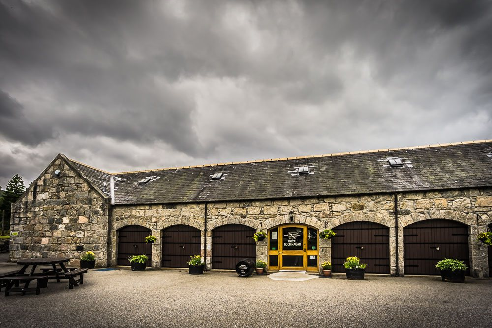 Visitors centre at Royal Lochnagar Distillery