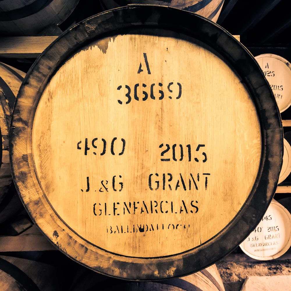 First fill (note the 'A' printed on top) 2015 Glenfarclas Cask. Almost all Glenfarclas is in ex-Oloroso Sherry.