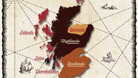 Scotland Whisky Distillery Map - With Google Maps Integration for Real Time Navigation