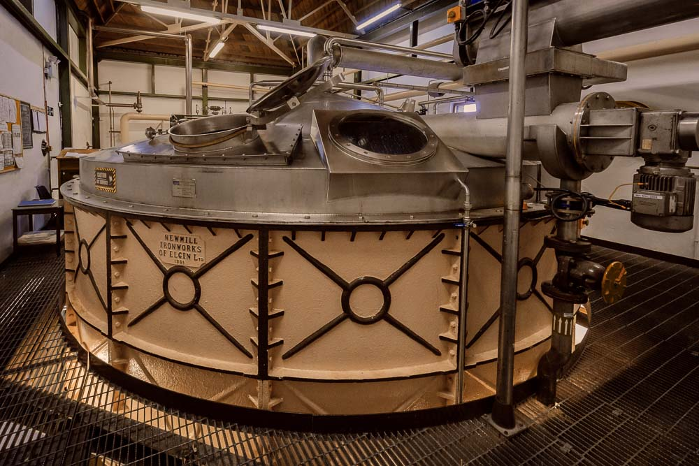 Colour photograph of The Mash Tun at Ardbeg distillery
