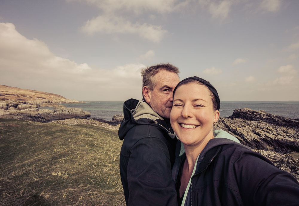 Roddy and Amanda Sanaigmore Bay Islay Scotland