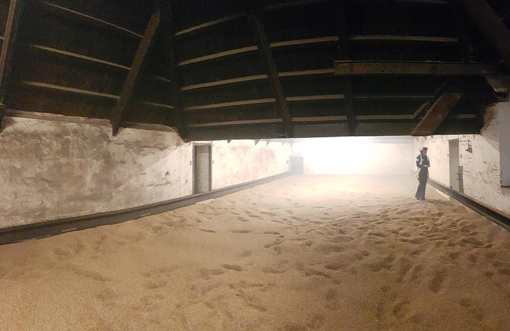 Inside the Kiln at Bowmore Distillery